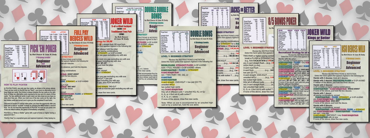 Video Poker Strategy Cards